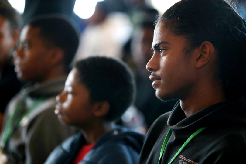 Black students, parents forge a tech career path at Oakland's Brothers Code event